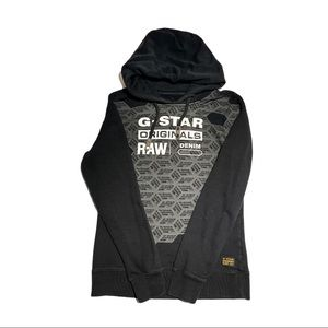 G-Star Black Fitted Cotton Hoodie Woman's Large